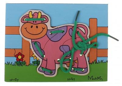 Шнуровка «Корова на ферме»