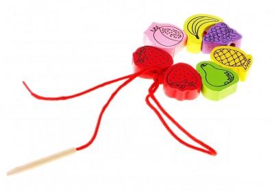 Шнуровка-бусины «Фрукты и ягоды», 24 детали
