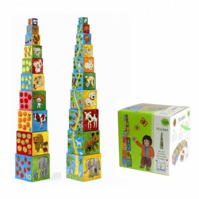Кубики-пирамида «Мои друзья», Djeco