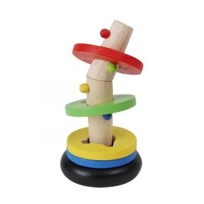 Забавная сортировка — пирамидка, Plan Toys