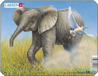 Пазлы «Лев», «Слон», «Обезьяна», «Зебра», Larsen