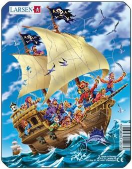 Пазлы «Пираты», «Трактор», «Грузовик», «Поезд», Larsen